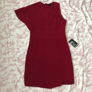 Express Asymmetrical Shoulder Mini Dress Sz 6
